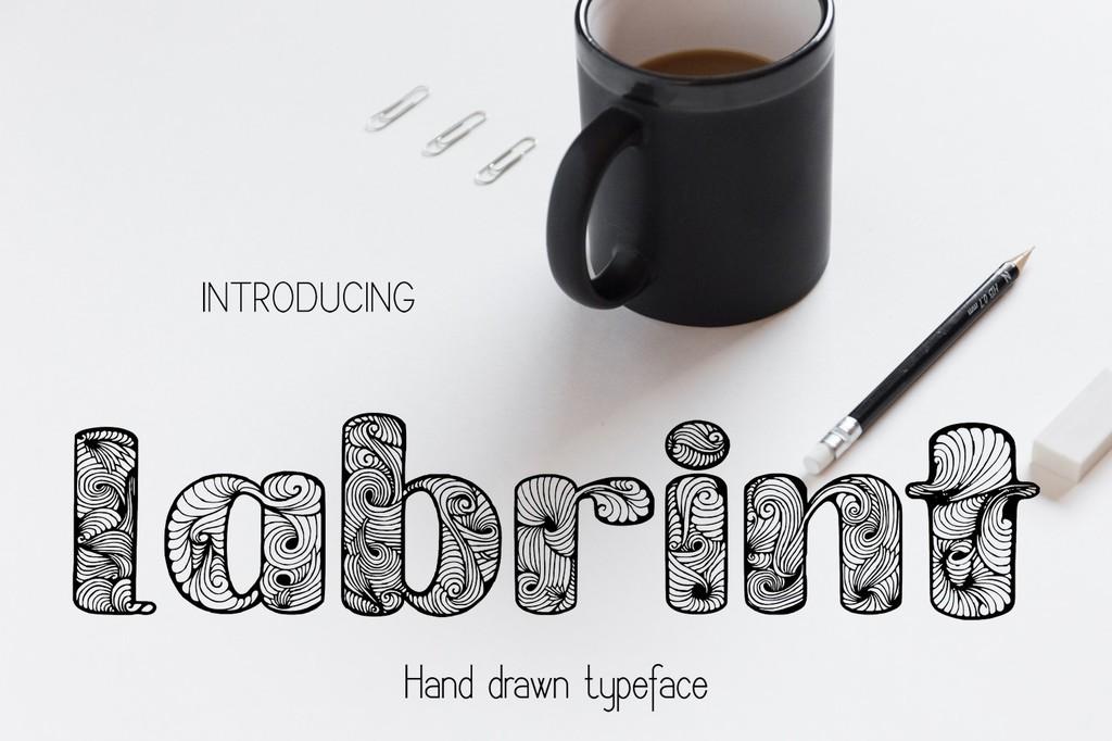 Labrint Font 裝飾設計字型下載