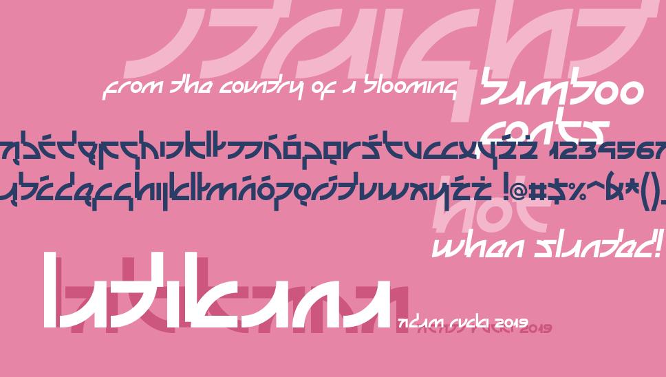 Latikana Font 美式日文字型下載