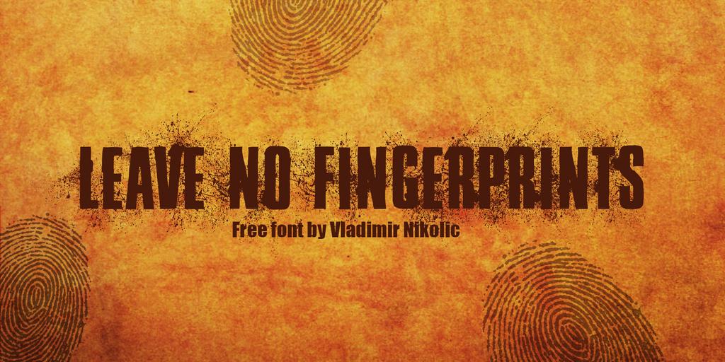 Leave No Fingerprints Font 偵探字型下載