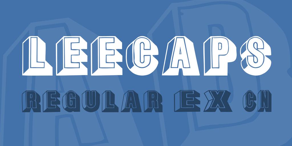 LeeCaps Font Family 英文浮雕字型下載