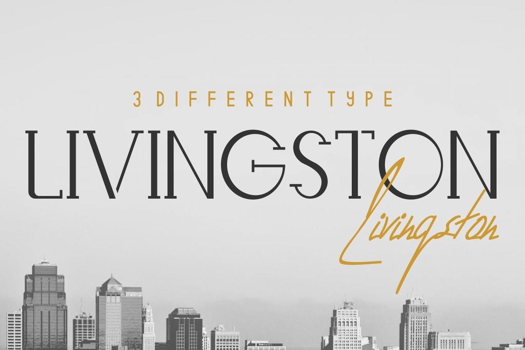 Livingston Font Family 高級時裝字型下載