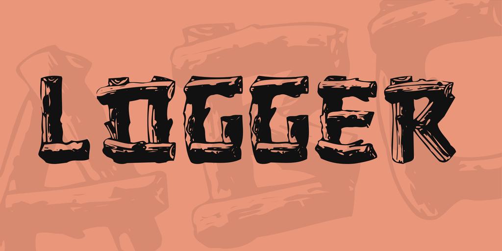 Logger Font 3D 木頭字型下載