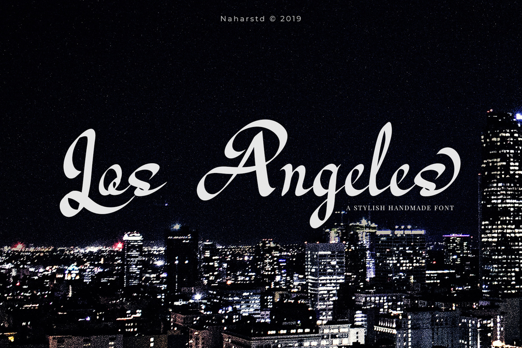 Los Angeles Font 英文美術字型下載
