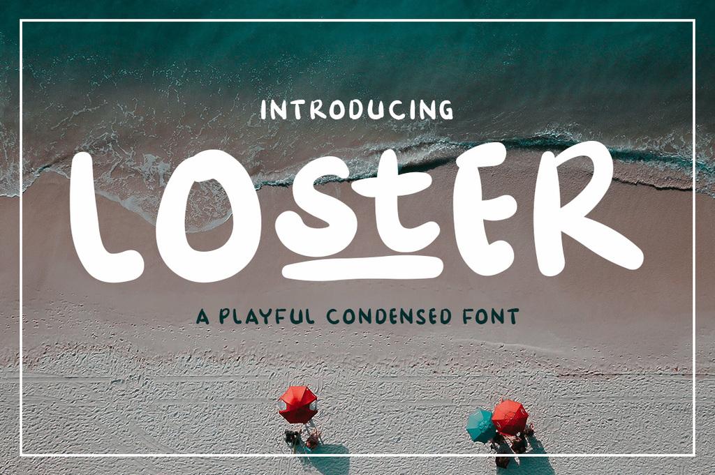 Loster Font 可愛插畫字型下載