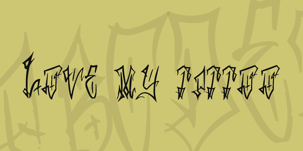 Love my tattoo Font 圖騰刺青字型下載