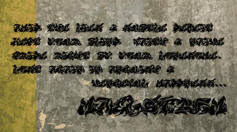 MAELSTROM Font 街頭噴漆字型下載
