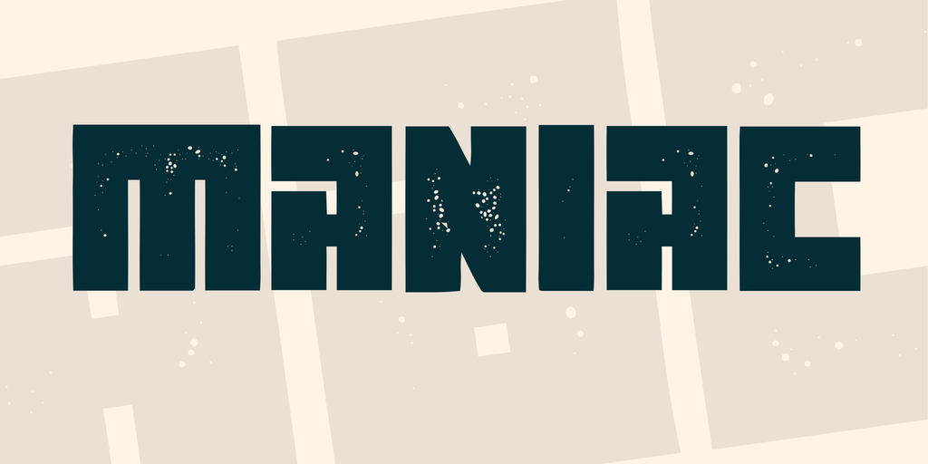 Maniac Font Family 方形字型下載