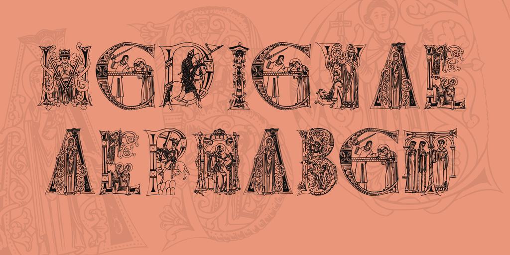 MedievalAlphabet Font 中世紀字型下載