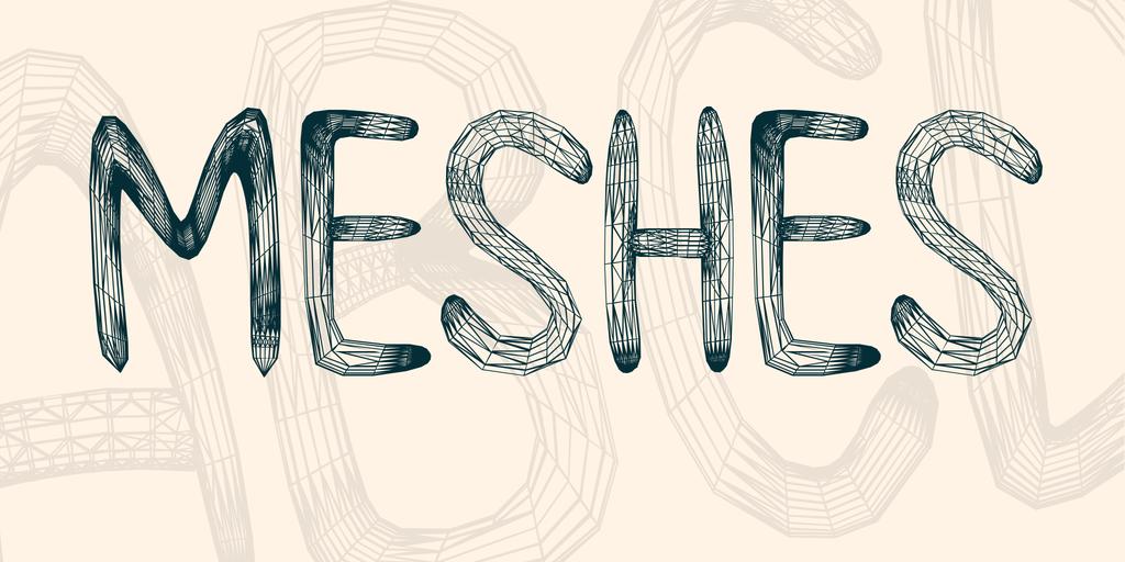 手繪網格字型下載