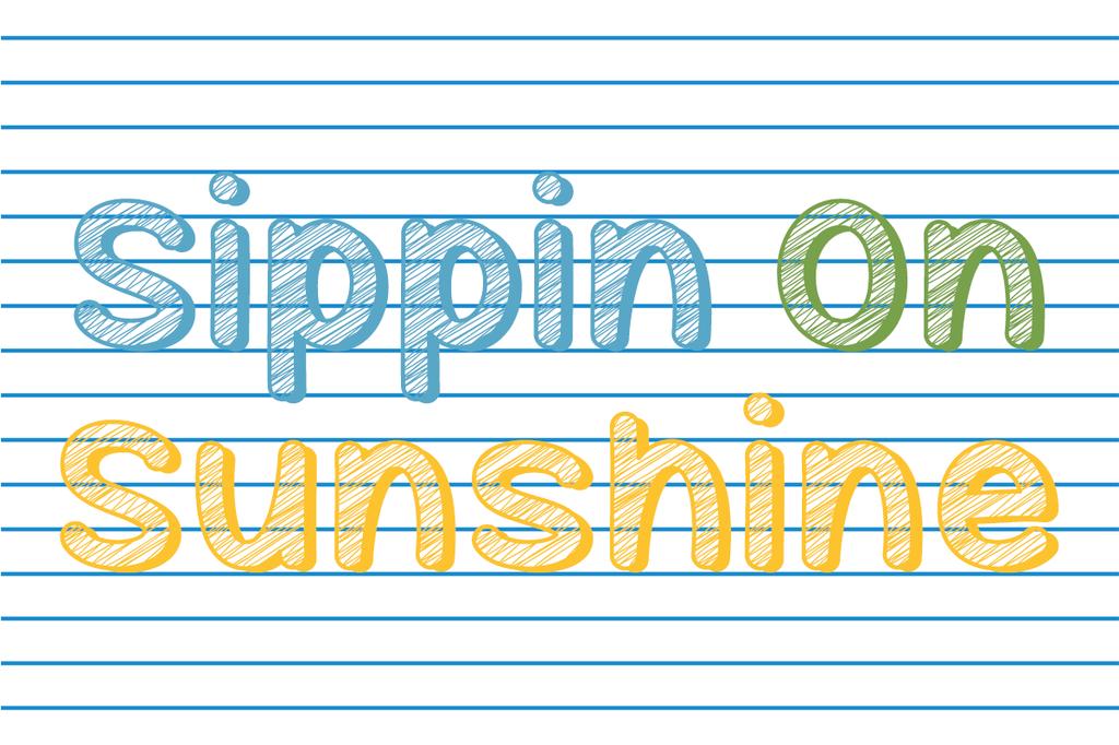 Sippin On Sunshine Font 可愛手帳字型下載