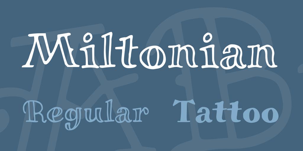 Miltonian Font Family 可愛刺青字型下載