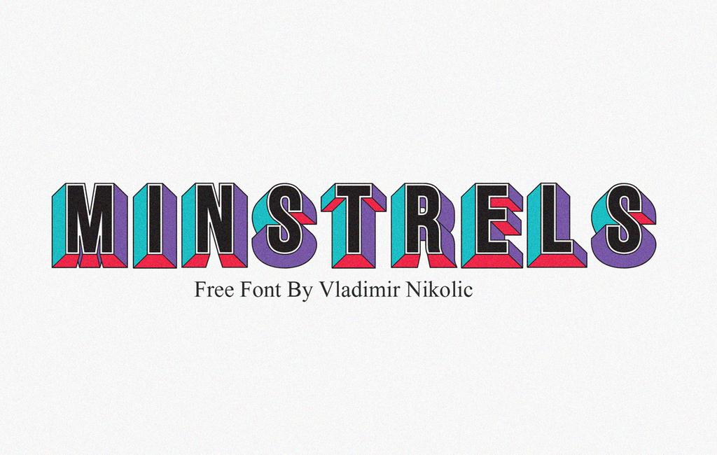 Minstrels Font 立體幾何字型下載