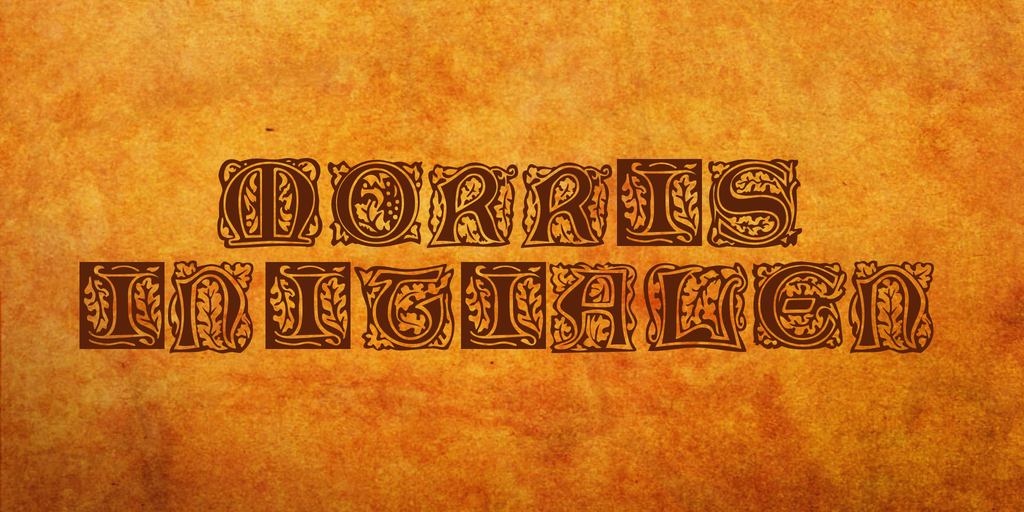 Morris Initialen Font 邊框裝飾字型下載