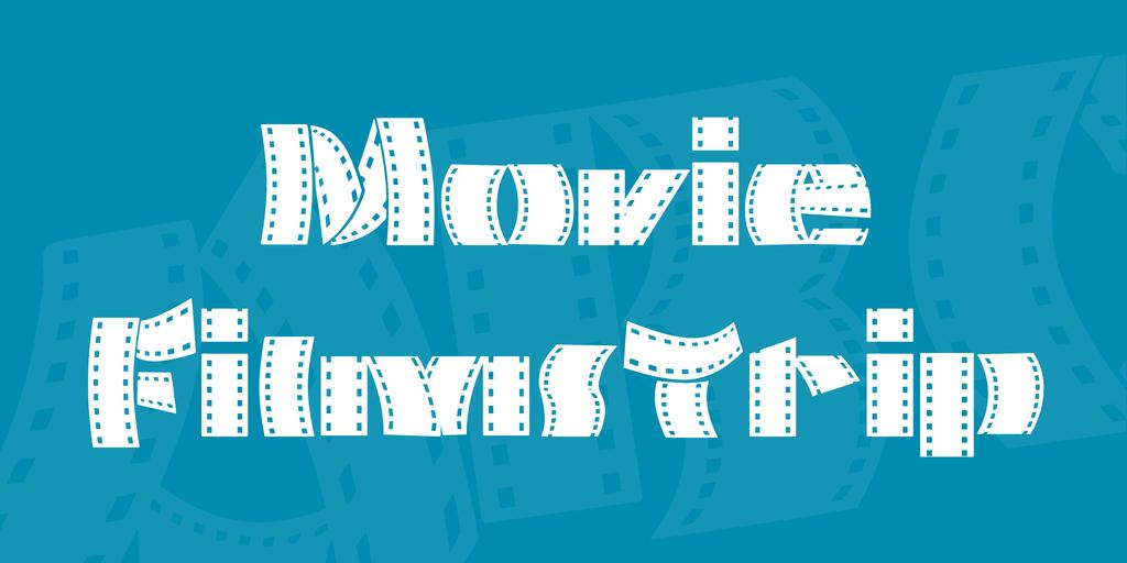 Movie Filmstrip Font 電影膠片字型下載