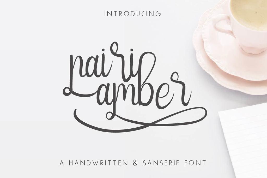 Nairi Amber Font Family 可愛甜心字型下載
