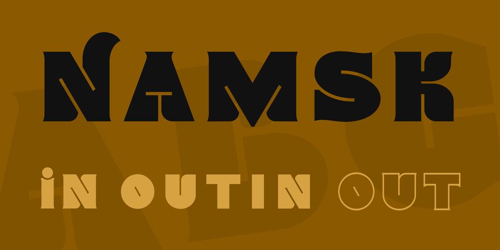 Namsk Font Family 英文時髦字型下載