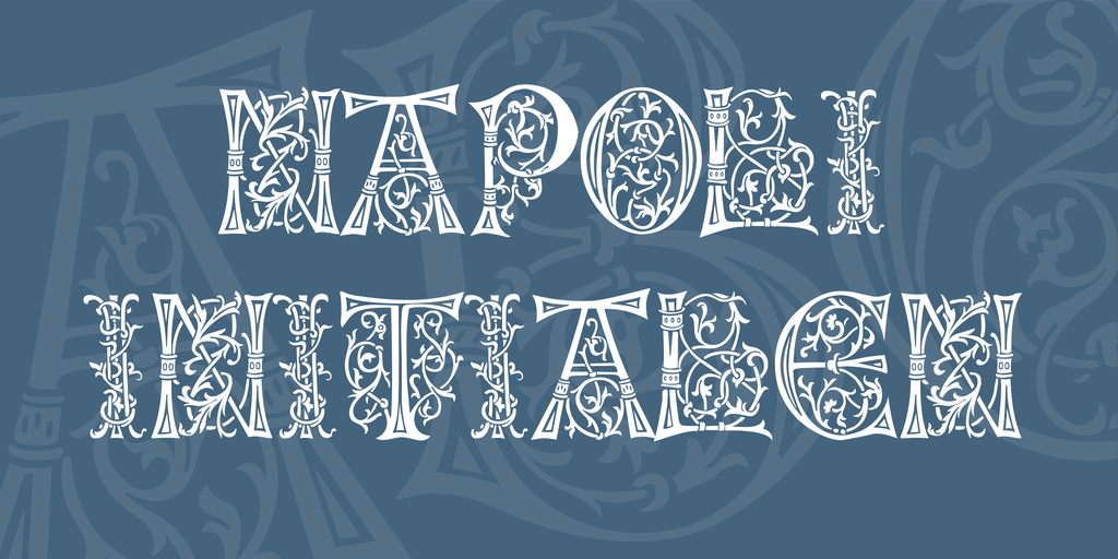 Napoli Initialen Font 復古義大利字型下載