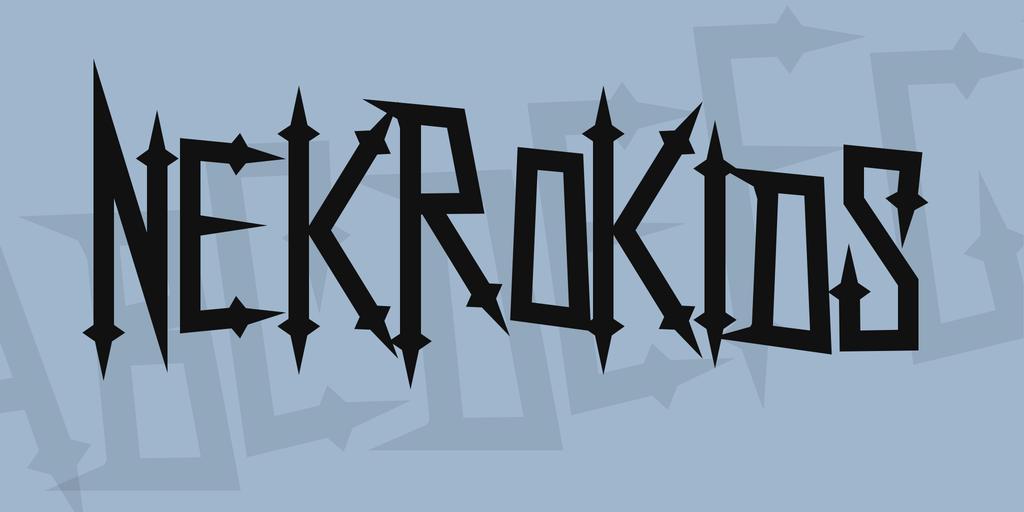 NekroKids Font 撒旦字型下載