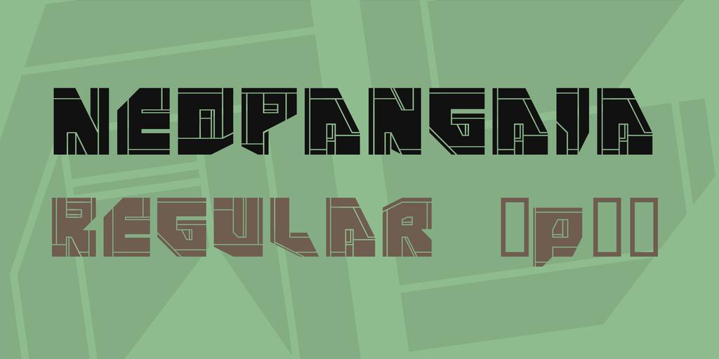 NeoPangaia Font Family 科幻字型下載