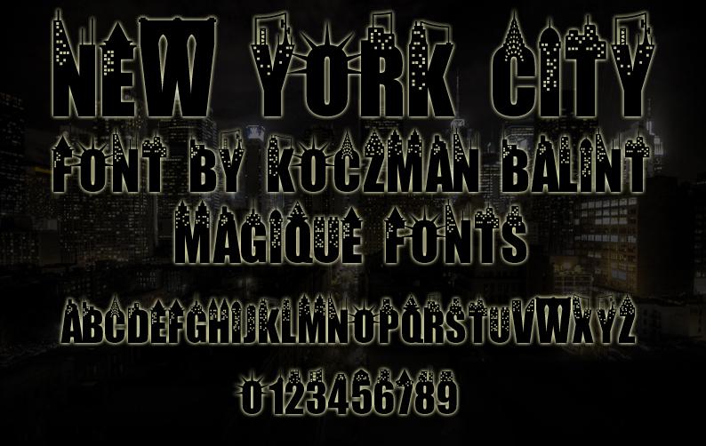 New York City Font 紐約裝飾字型下載