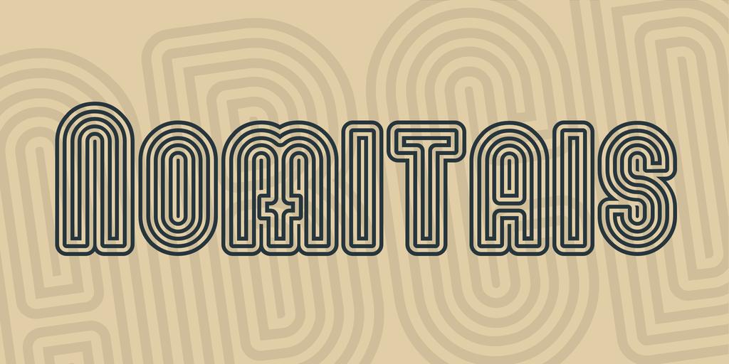 Nomitais Font 輪廓字型下載