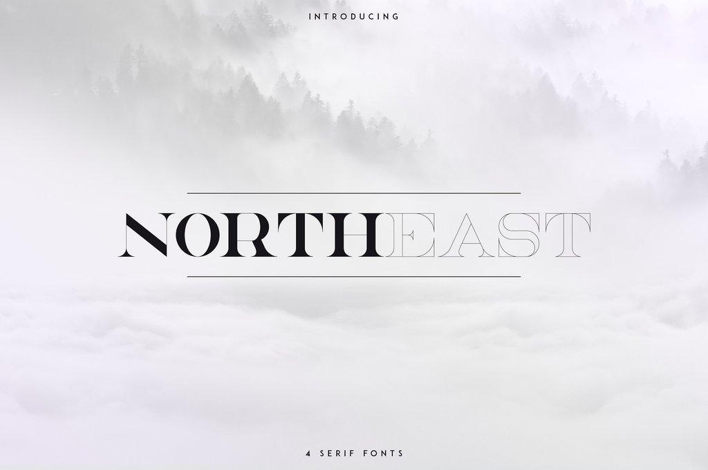 NorthEast Font 優雅雜誌字型下載