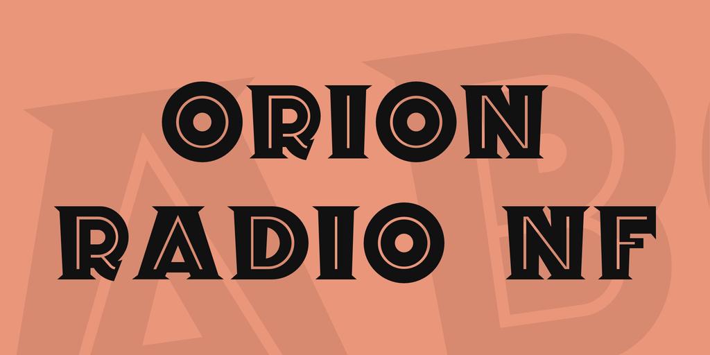 Orion Radio NF Font 裝飾復古字型下載