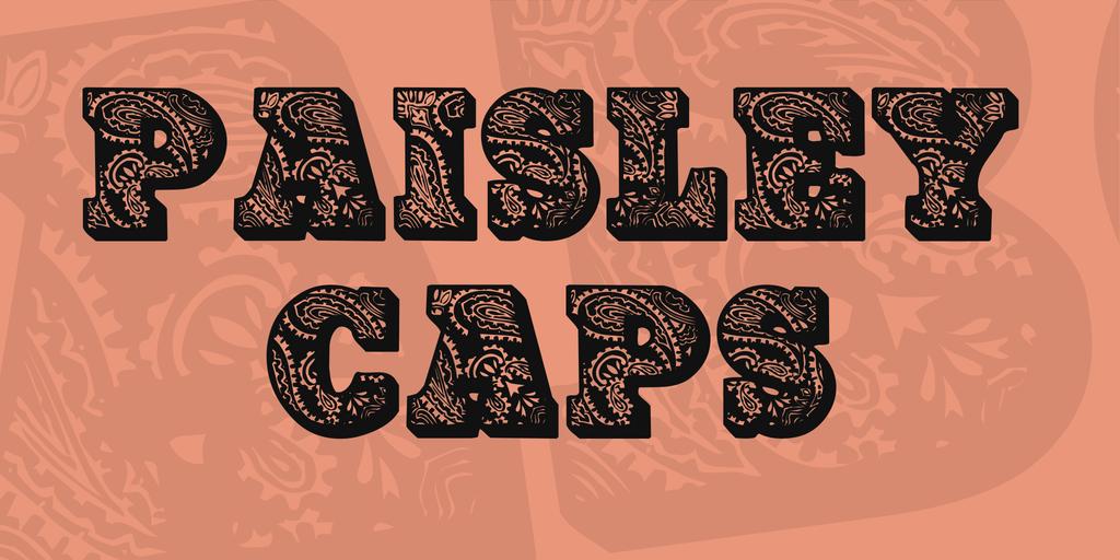 PaisleyCaps Font 裝飾陰影字型下載