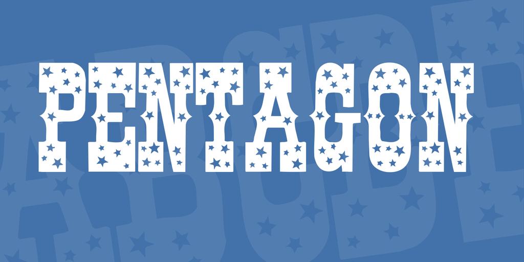 Pentagon Font 星星刺青字型下載