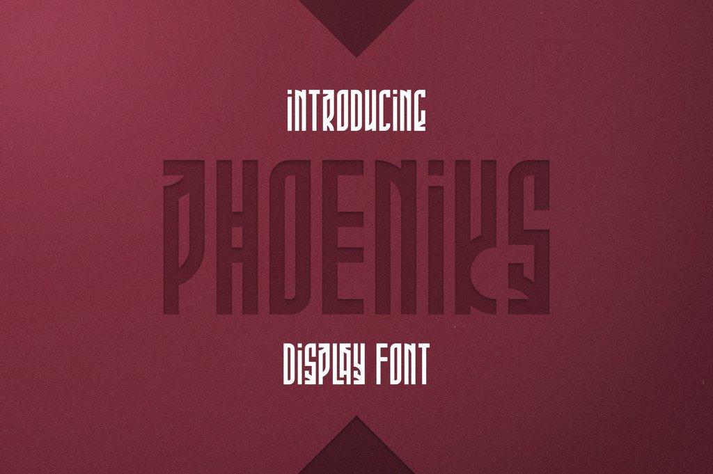Phoeniks Font 特殊標題字型下載