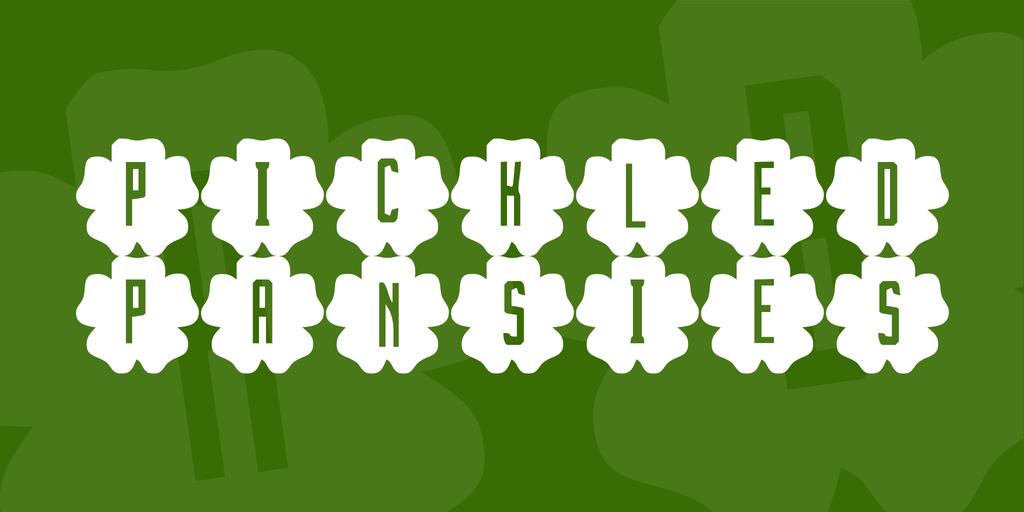 Pickled Pansies Font 紫羅蘭字型下載