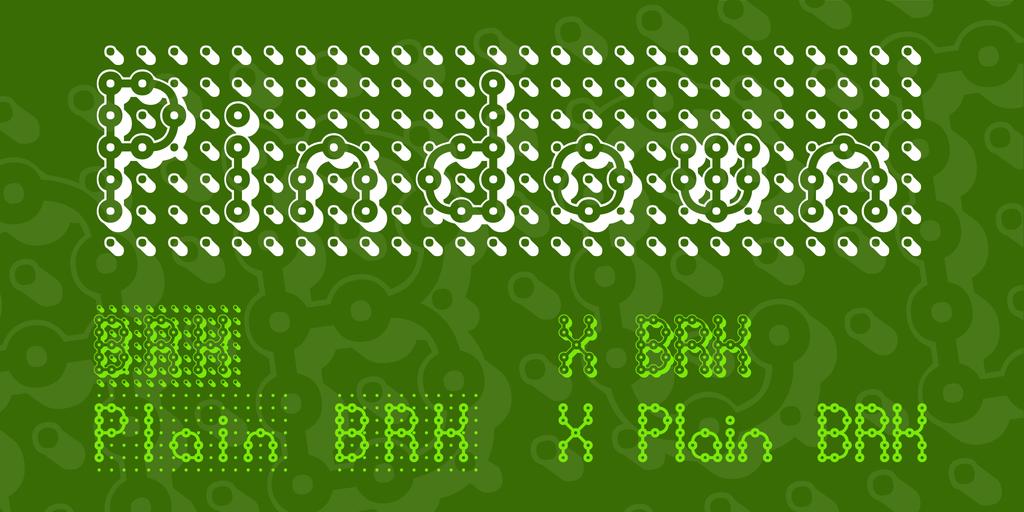 Pindown Font Family 3D 點陣字型下載