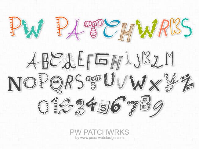 PWPatchwrks Font 拼湊字型下載