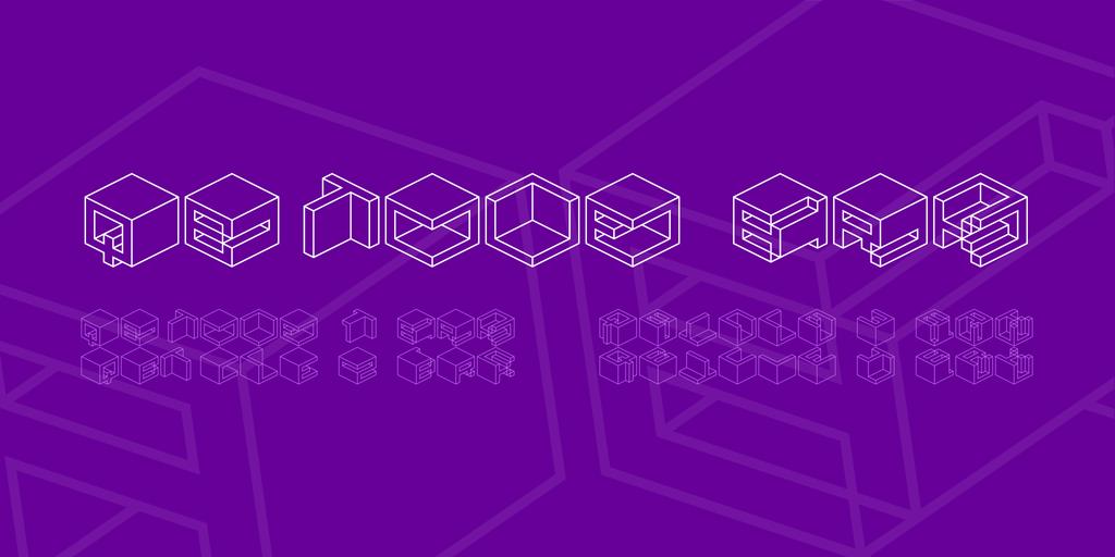 Qbicle BRK Font Family 方塊設計字型下載