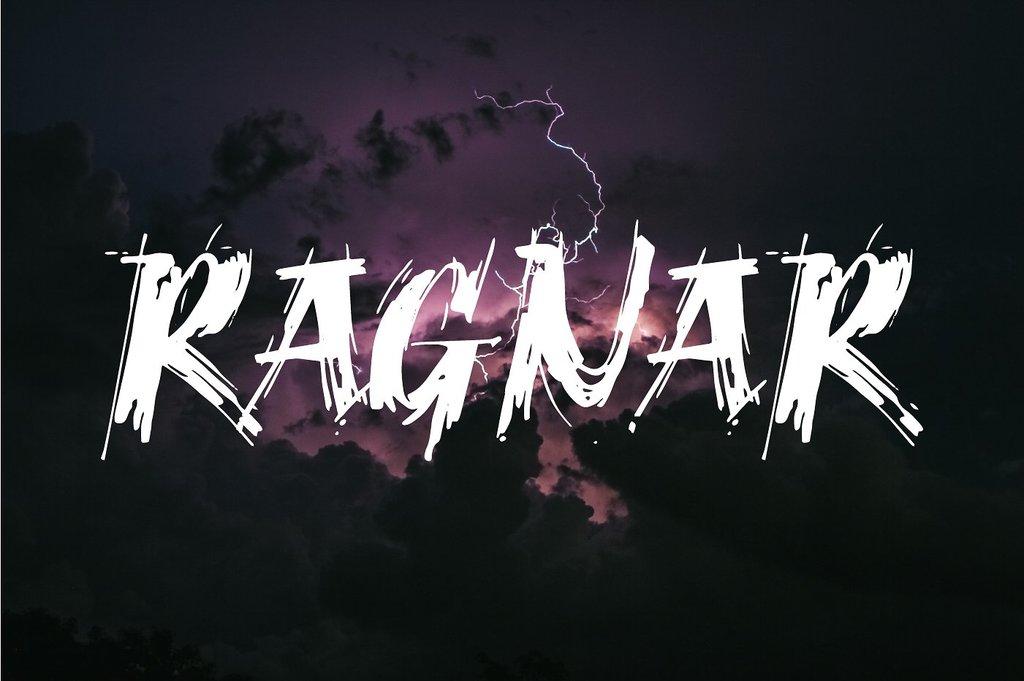Ragnar Brush DEMO Font 兇猛激烈字型下載