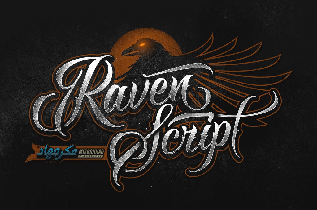 Raven Script DEMO Font 姓名刺青字型下載