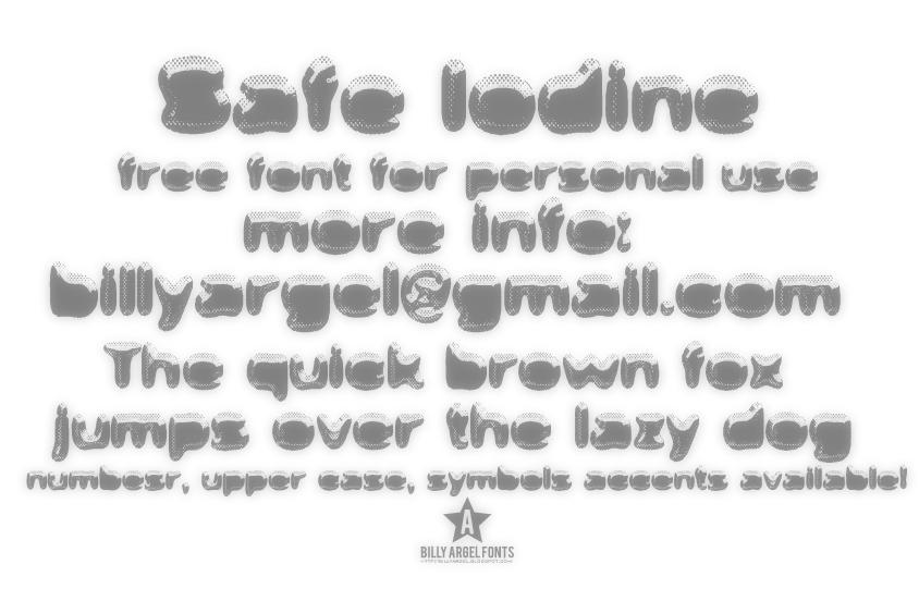 Safe Iodine Font 3D金屬字型下載