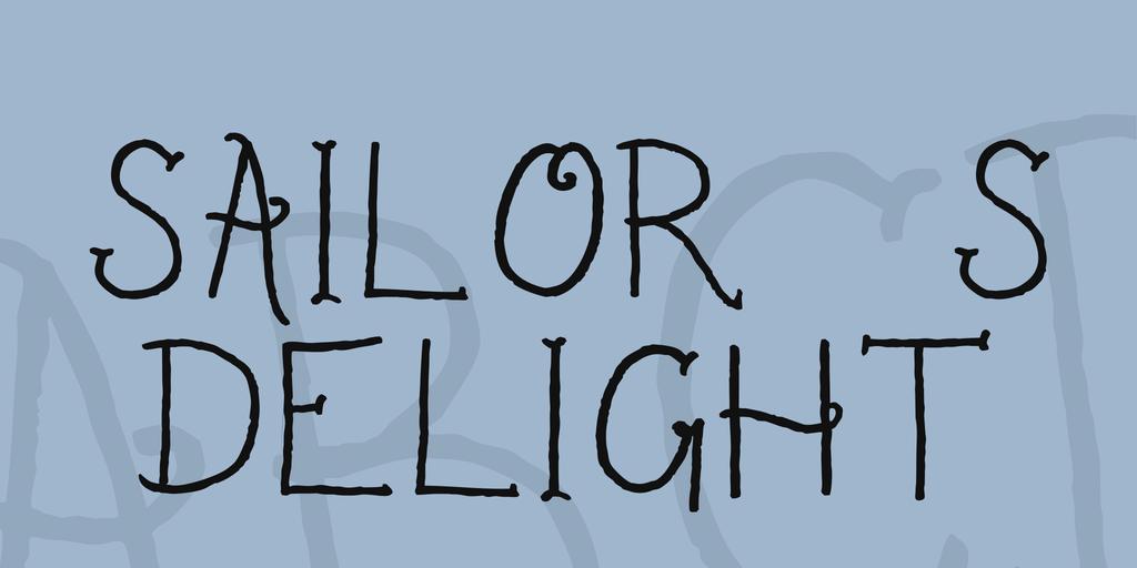 Sailor's Delight Font 文青刺青字型下載