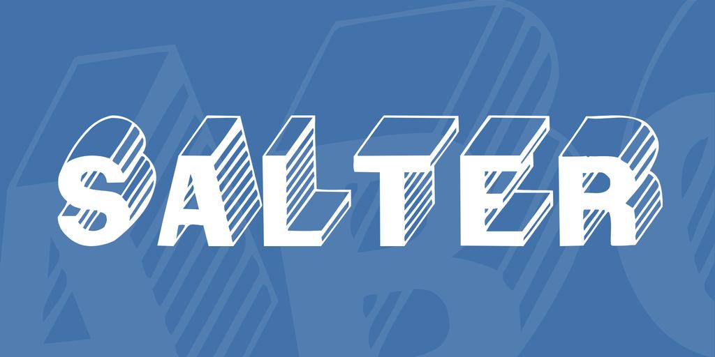 Salter Font 3D 條紋字型下載