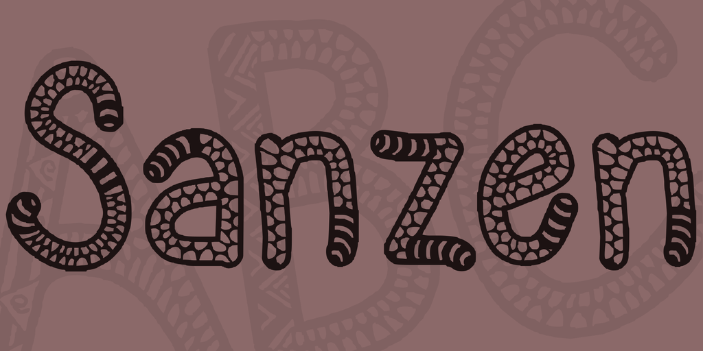 Sanzen Font 蛇皮字型下載