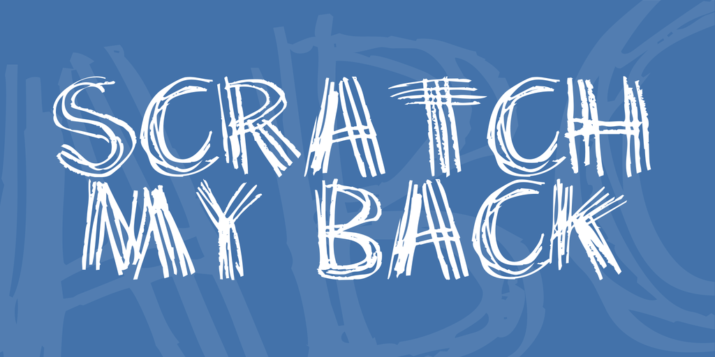 Scratch my back Font 抓痕字型下載