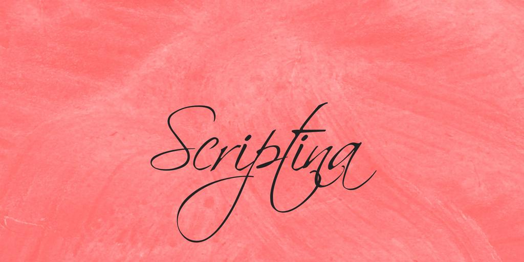 Scriptina Font Family 草寫刺青字型下載