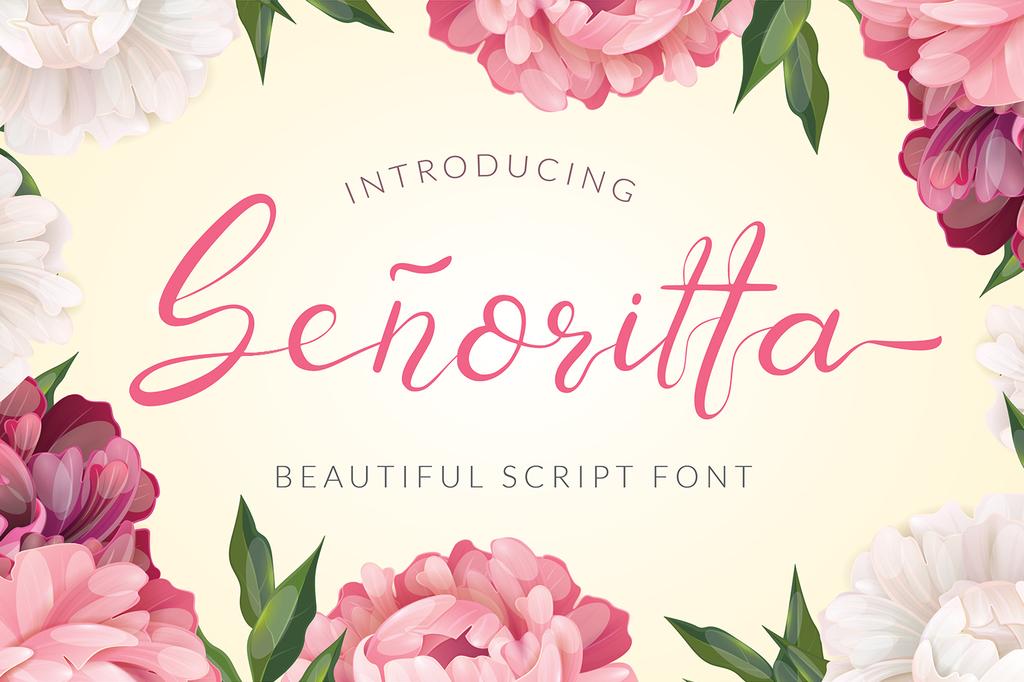 Senoritta Font 女生書法字型下載