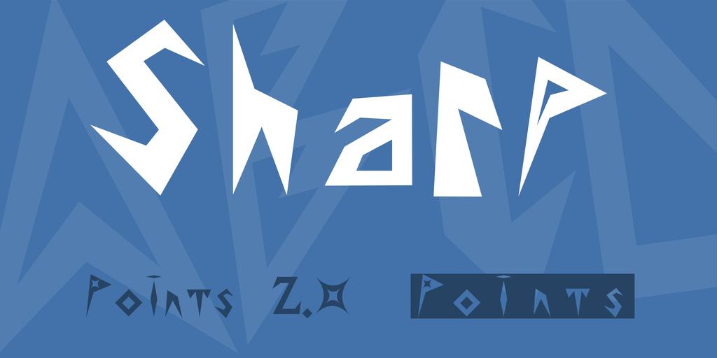 Sharp Font Family 龐克樂團字型下載
