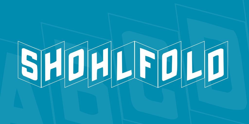 ShohlFold Font 3D折疊字型下載