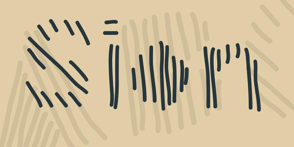 Sion Font 手寫條紋字型下載