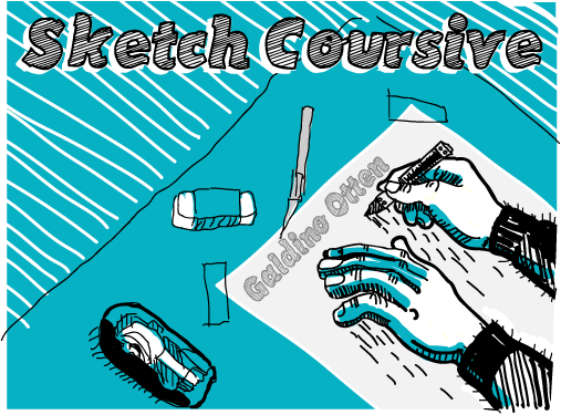 Sketch Coursive Font 手繪速寫字型下載