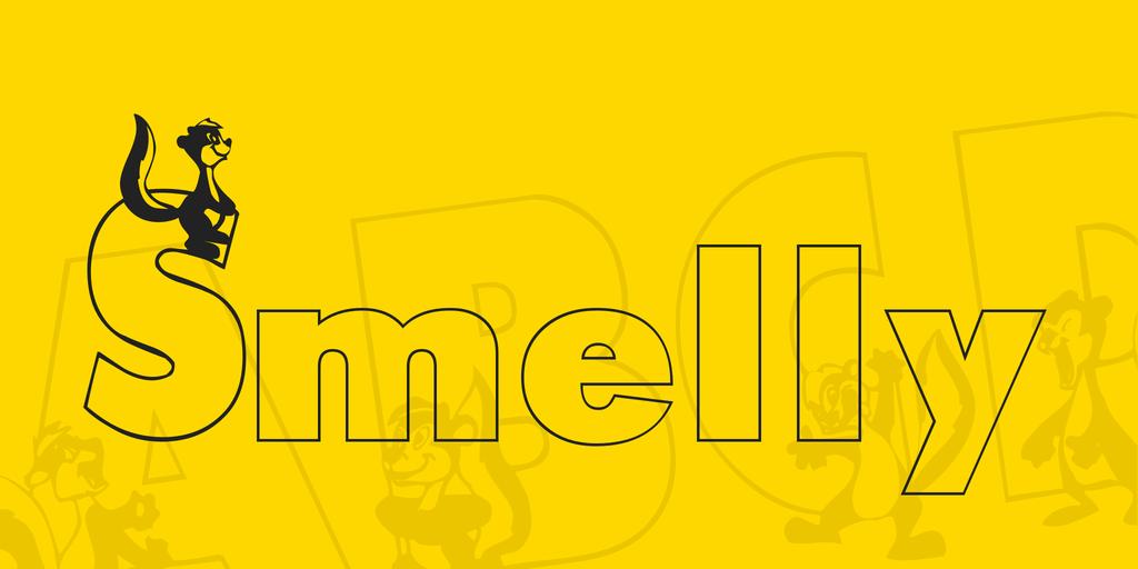 Smelly Font 臭鼬字型下載