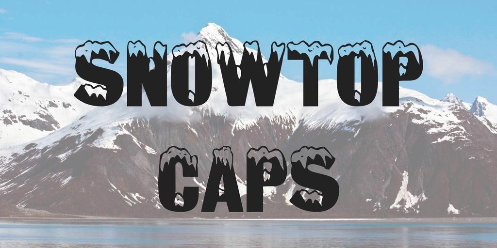 Snowtop Caps Font 雪字型下載