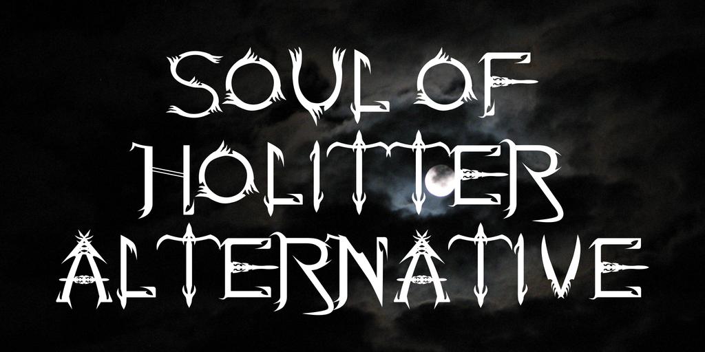 Soul Of Holitter Alternative Font 驚悚刺青字型下載